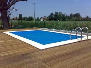 Telo di copertura per piscina estivo