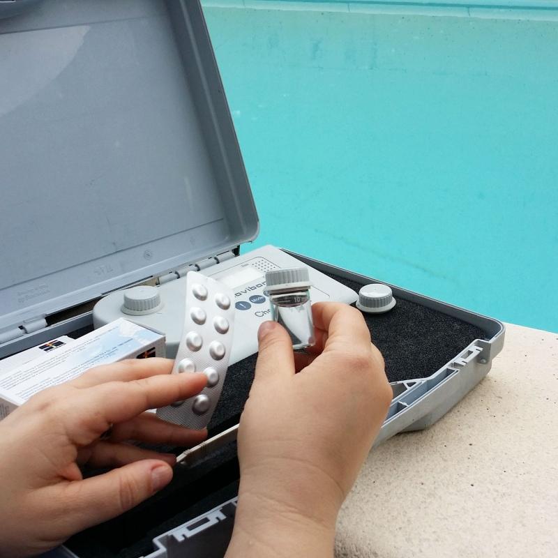 Analisi acqua della piscina